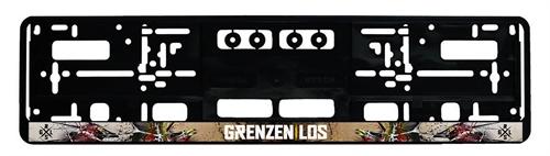 Grenzen|Los  - Logo vollflächig, Kennzeichenhalter